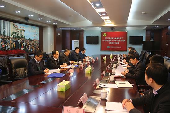 总公司召开学习贯彻党的十八届六中全会精神专题民主生活会