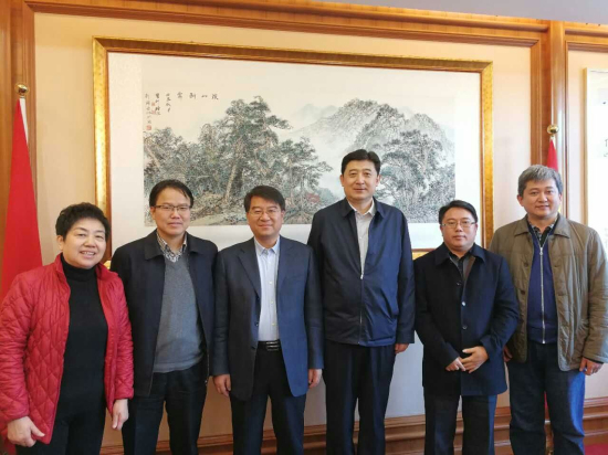 马健峰总经理与国家民委领导洽谈中央民族大学新校区建设事宜