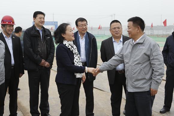 通用技术集团李谠总经理视察北京新机场南航基地项目