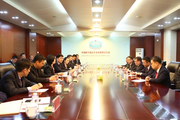 马健峰董事长会见蒙古国政府代表团